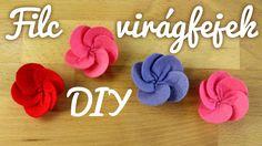 Mosolygós filc virágok   Virágok   Manó kuckó Paper Flowers, Youtube, Youtubers, Youtube Movies