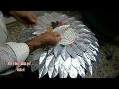 Aluminum Foil Art, Aluminum Can Crafts, Metal Crafts, Tin Can Art, Soda Can Art, Tin Art, Tin Can Flowers, Metal Flowers, Diy Finger Knitting Scarf