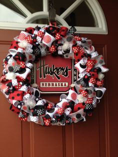 Huskers ribbon wreath example (uploaded photo- no link).