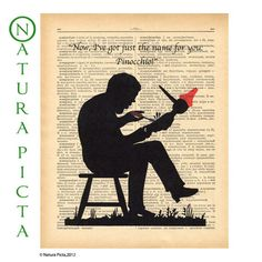 Pinocchio dictionary print on Upcycled Vintage by naturapicta, $7.99