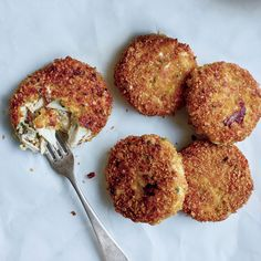 These sensational crab cakes from star chef Marc Forgione have a crisp cornflake crust. Get the recipe at Food & Wine.