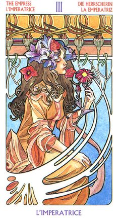 The Empress - Art Nouveau Tarot