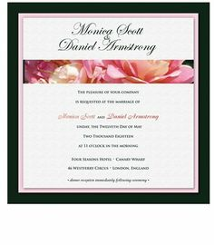 110 Square Wedding Invitations - Twin Peach Roses on Black by WeddingPaperMasters.com. $289.30. Now you can have it all! We have created, at incredible prices & outstanding quality, more than 300 gorgeous collections consisting of over 6000 beautiful pieces that are perfectly coordinated together to capture your vision without compromise. No more mixing and matching or having to compromise your look. We can provide you with one piece or an entire collection in a one sto...