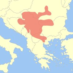 Map showing the extent of the Vinča culture within Southeastern Europe.