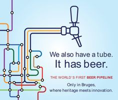 Did you know that #Bruges also has a tube?  But not a traditional type of tube. Curious what this is all about?  http://www.nytimes.com/…/a-two-mile-beer-pipeline-carries-b…  https://www.theguardian.com/…/bruges-pipe-dream-a-reality-b…  https://www.hotelnavarra.com/…/Package-deal-Taste-our-famou…