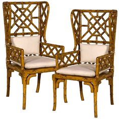 Bamboo wing back #chairs