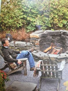 Astonshing Rustic Outdoor Fireplace Design Ideas 187