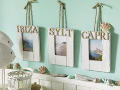 Die Foto-Erinnerungen aus den Urlauben auf Capri, Sylt und Co. machen sich dank Bastelideen für maritime Bilderrahmen ganz hervorragen