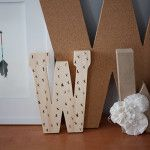 Use a wood burning pen to add decoration to plain wooden letters! Makes a great addition to a gallery wall or monogram collection.