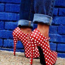 Red polka dot heels I love me some polka dots! Crazy Shoes, Me Too Shoes, Funky Shoes, Polka Dot Heels, Polka Dots, Red Dots, Look Rockabilly, Mode Shoes, Ankle Straps