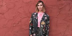 Gia Coppola in a Gucci leather jacket