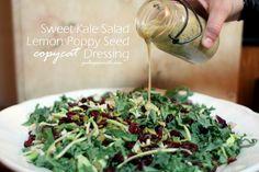 Sweet Kale Salad Lemon Poppy Seed Copycat Dressing by Paleo Parents