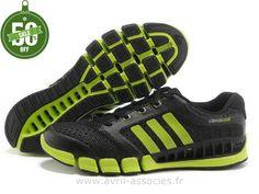 Officiel Adidas 2016 - Adidas Climacool 5 Amants Chaussures Noir Unique Vert (Adidas Zx Flux Pas Cher)