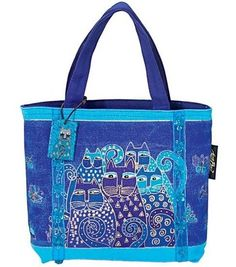 Bright, vivid colors define the signature artwork of artist Laurel Burch. Her totes are designed to be practical and useful art. The brilliant hues and wonderful patterns of her carefully designed tot