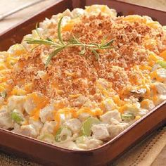 Cheesy Hot Chicken Salad