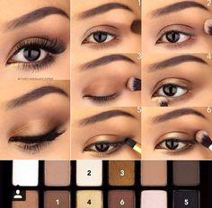 beauty, black, diy, eyebrow, eyeliner, makeup, mascara, pink, pretty, smokey eye, tutorial