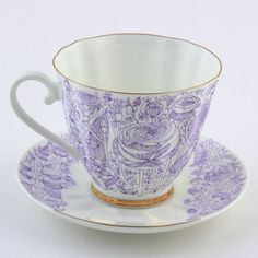 Russian Imperial Lomonosov Porcelain Tea cup and saucer carnation LFZ RARE Rare #Lomonosov #CupsSaucers