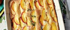 Peach Thyme Cake Honest Cooking