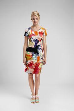 Fra Eva & Claudi Short Sleeve Dresses, Dresses With Sleeves, Summer Dresses, Fashion, Summer Sundresses, Moda, Sleeve Dresses, Sundresses, Fashion Styles
