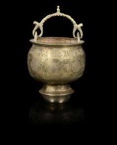 A Khorasan silver-inlaid bronze Bucket Persia, early Century