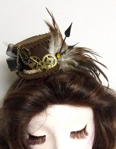 Steampunk Hair FASCINATOR mini hat headress by LesasEnchantedAttic, $75.00