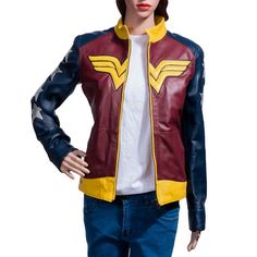 DC Comics Wonder Woman Leather Jacket