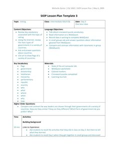 Unit Plan And Lesson Plan Templates For Backwards Planning