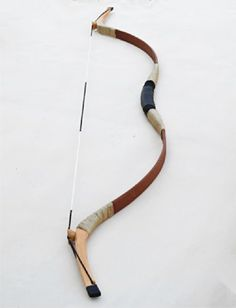 Buffalo Handmade Pigskin Mongol Style Hunting Longbow Archery Recurve Bow Brown 30-60LBS