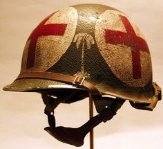 This is a 551st Parachute Infantry M2 Helmet created for a veterans family.
