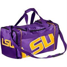 LSU Tigers 13 Core Big Logo Duffle Bag - Purple