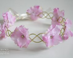 floral crown - floral headpiece - wedding circlet