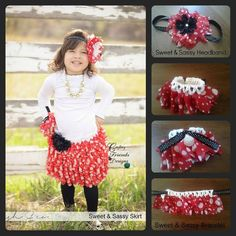 """This listing is ONLY for the Bracelet and Headband patterns. Little girls love to dress up and be """"Pretty"""" with extra accessories. As I finished up the Sweet N Sassy Skirt for my toddler, I had some Red Heart Boutique Sassy Fabric left over and decided that a headband and bracelet would be perfect for her. Vwaalaa - we had a winner! She has enjoyed the entire set!You will need a small amount of Sassy Lace or Sassy Fabric and a couple of ounces of any 4ww cotton. I used Peaches and Creme…"""