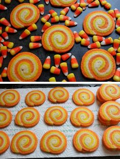 Candy Corn Swirl Cookies | 40 Halloween Party Food Ideas for Kids | Easy Halloween Treats for Kids