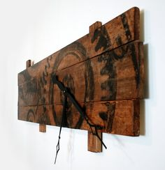 If you love oversized wall clocks this is one to have a look at. It measures 48 x 28 overall (the wood portion measures 48 x 15). This modern industrial steampunk inspired wall clock is made of solid wood. It has an asymmetrical design really that sets it apart. Because there are no numbers you can orient the clock however you want; vertically, horizontally (as pictured), etc. This beautiful clock will stand out in your home decor. If you love unique home decor, then this clock is just what…