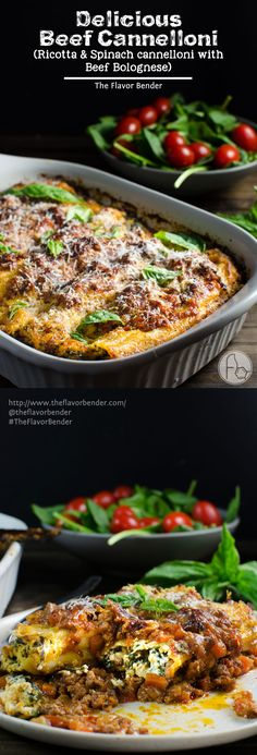Delicious Beef Cannelloni - Creamy, herby, cheesy ricotta filling stuffed in pasta shells and baked in a hearty beef bolognese and topped with delicious Parmesan! The perfect family meal and easily freezable! #PickedAtPeak #ad. SAVE to repin recipe. CLICK to get the recipe! #TheFlavorBender