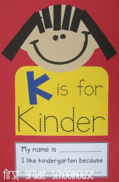 K is for Kinder craft and writing frame.