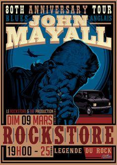 Dim 09 mars – 19h – ROCK STORE – 25€ - Le Rockstore & TAF Production présentent : JOHN MAYALL – (Blues – Angleterre) march 2014