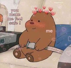 We Bare Bears Wallpapers, Cute Wallpapers, Relationship Memes, Cute Relationships, Cute Images, Cute Pictures, Heart Meme, Cute Love Memes, Crush Memes