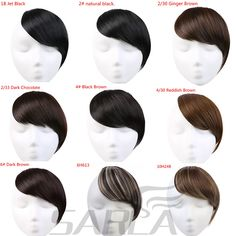 SARLA 1PC Straight High Temperature Fiber Clip In Hair Extension 23 Colors Available Gradient Bangs B2. Click visit to buy #SyntheticExtensions