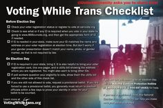 Trans Right to Vote Shall Not be Infringed. See the story for details.