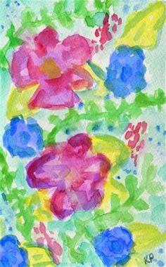 "Daily Paintworks - ""Trail Bliss"" by Kali Parsons - Original Fine Art for Sale - Watercolor - © Kali Parsons - http://kaliparsons.blogspot.com"