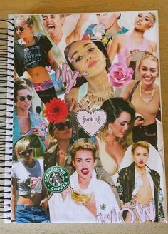 DIY Tumblr collage notebook