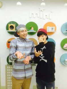 [Picture/Official] Rap Monster & Jimin at MBC Simsimtapa Twitter [140401] | btsdiary