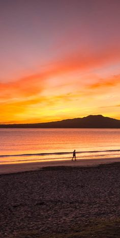 (what we love: catching sunrise on an early morning jog). New Zealand Cities, New Zealand Beach, Auckland New Zealand, New Zealand Travel, North Island New Zealand, Beach Sunsets, Beach Sunrise, Best Sunset, The Beautiful Country