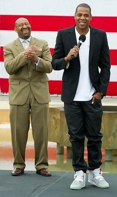55f7540756a56f Philadelphia Mayor Michael Nutter and Shawn Jay-Z Carter announce Made In  America Festival in Philadelphia