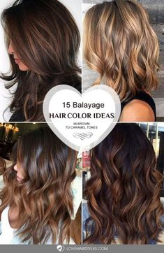 Balayage Hair Color Ideas in Brown to Caramel Tones