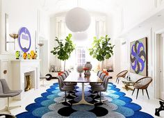 Yes please. #fab rug #fab chairs #fablife @domainehome @jonathanadler @simondoonan