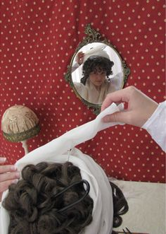 This girl is amazing. she has three different Regency turban tutorials.