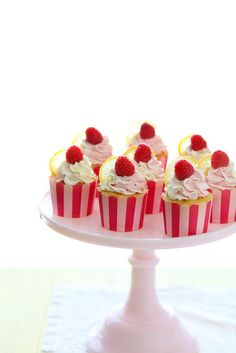 Lemon Raspberry Cupcakes | Annie's Eats-made with a different lemon buttercream recipe that I have pinned here. Delish! Very popular