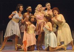 """The muses in the Chanhassesn Dinner Theater production of Xanadu!  Yes, two of the sisters are gay boy """"sisters""""!  Loved this show!!!"""
